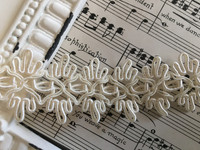 "Gimp Loop Braid 1""  Ivory or White"