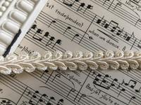 "Chinese Braid 1/2"" Ivory or White"
