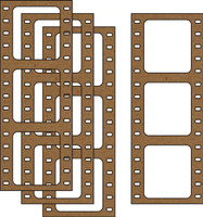 Film Strip (4 pack) - Chipboard Embellishment