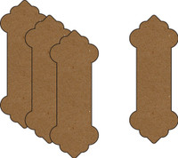 Ribbon Spools - Style 1 (4 Pack) - Chipboard Embellishment