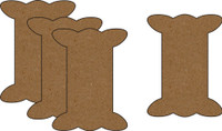 Ribbon Spools - Style 2 (4 Pack) - Chipboard Embellishment
