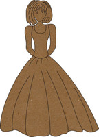 Sassy Bride - Chipboard Embellishment