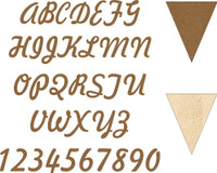 Build a Banner Additional Banner and Letter or Number - Chipboard Embellishment