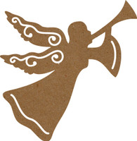 Angel with Trumpet Large - Chipboard Embellishment