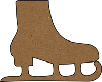Ice Skate Large - Chipboard Embellishment