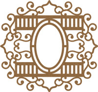 Frame Elegant Swirls with Ovals - Chipboard Embellishment