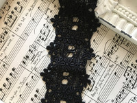 Black  Ribbon Trim - 1yd