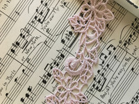 Soft Pink Rose Trim - 1yd