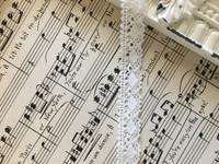 White Petite Crochet Trim - 1yd