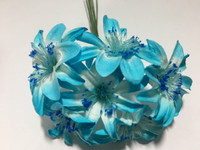 Turquoise Paper Flower #8098