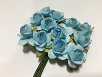 LT Blue Mini Paper Flower 8050E