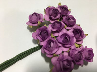 Purple Mini Paper Flower 8050E