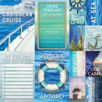 Caribbean Cruise - 12 x 12 Poster Sticker