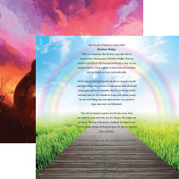 Rainbow Bridge - Reminisce Double Sided 12 x 12 Paper