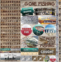 Gone Fishing - Reminisce Poster Sticker 12x12