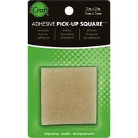 THERM O WEB-Adhesive Pick-Up. Remove stray sticky dots and other adhesives. Rub the square in one direction to pick up excess. When the edge of the square becomes dirty wash off or cut off the residue and continue to use. Non-toxic and long lasting. This package contains one 2x2 . Made in USA.
