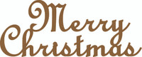 Merry Christmas - Chipboard Quote