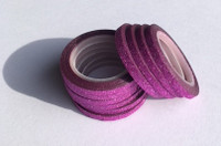 Washi Tape 1/4 Inch 10 Pack - Hot Pink Glitter