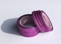 Washi Tape 1/4 Inch 10 Pack - Grape Glitter