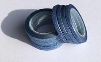 Washi Tape 1/4 Inch 10 Pack - Blue Glitter