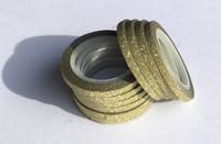 Washi Tape 1/4 Inch 10 Pack - Yellow Glitter