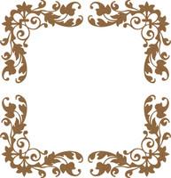 Floral Border 4 Pack - Chipboard Embellishment