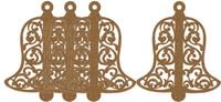 Decorative Flourish Bell Small 4 Pack - Chipboard Embellishment