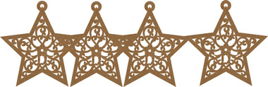 """Each gorgeous star measures approximately 3 1/2"""" x 3 1/2"""""""