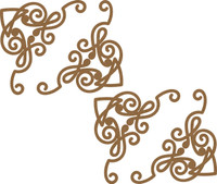 Decorative Corner Borders - 4 Pack Large Chipboard Embellishments