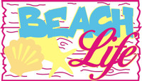 Beach Life - Laser Die Cut