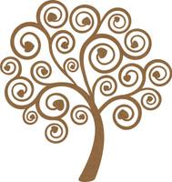 Heart Swirl Tree - Chipboard Embellishment