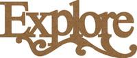 Explore Swirl - Chipboard Quote