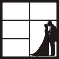 WEDDING COUPLE - 12 X 12 SCRAPBOOK OL