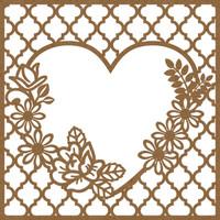 Elegant Heart & Flower Frame