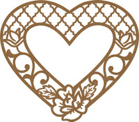 Filligree Flower Heart Frame