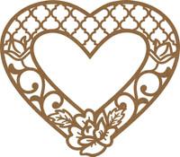 Filligree Flower Heart Frame