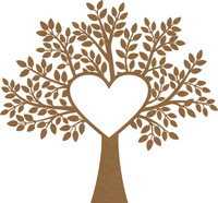 Large Heart Heart Frame Tree