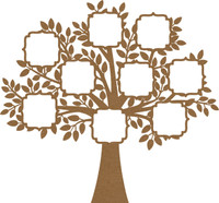 Tree with Decorative Frames