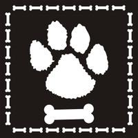 Dog Paw w/Dog Bones- 12 x 12 Scrapbook OL