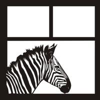 Zebra - 12 x 12 Scrapbook OL
