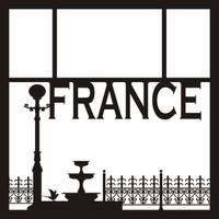 France Pg 1 - 12 x 12 Scrapbook OL