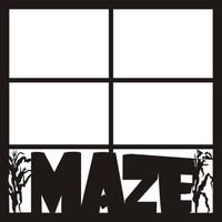 Corn Maze Pg 2 - 12 x 12 Scrapbook OL