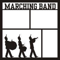 Marching Band Pg 1 - 12 x 12 Scrapbook OL