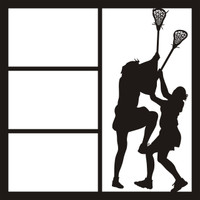 Lacrosse Girls Pg 1 - 12 x 12 Scrapbook OL