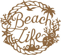 Beach Life Frame- Chipboard Embellishment