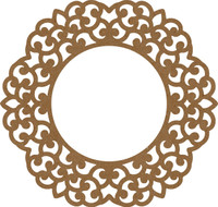 Lacey Frame - Chipboard Embellishment