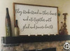 They Broke Bread In Their Homes Framed Wood Sign
