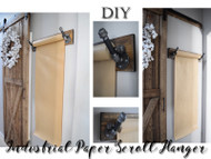Industrial Brown Paper Scroll Holder