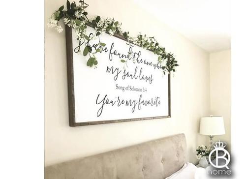 Song Of Solomon Framed Wood Sign