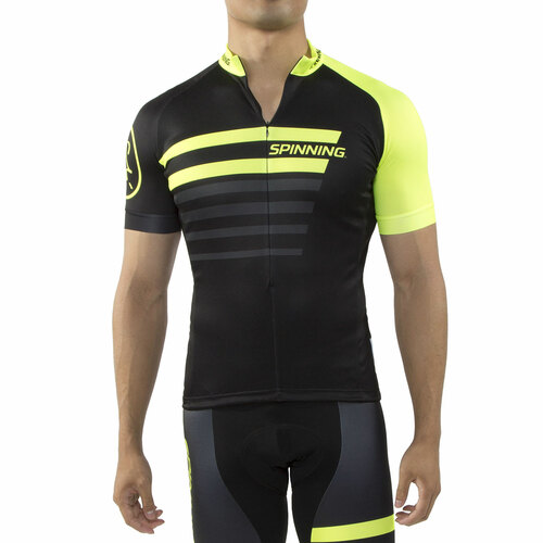 Spinning® Vega Mens Short Sleeve Cycling Jerseys Yellow